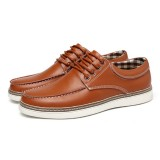 Men Genuine Leather Casual Soft Soles Business Oxfords