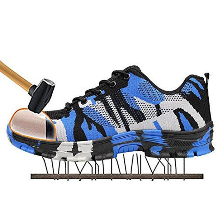 Men's Work Shoes Anti-Smashing Hard Steel Toe Safety Shoes Keep Warm Waterproof Sneakers