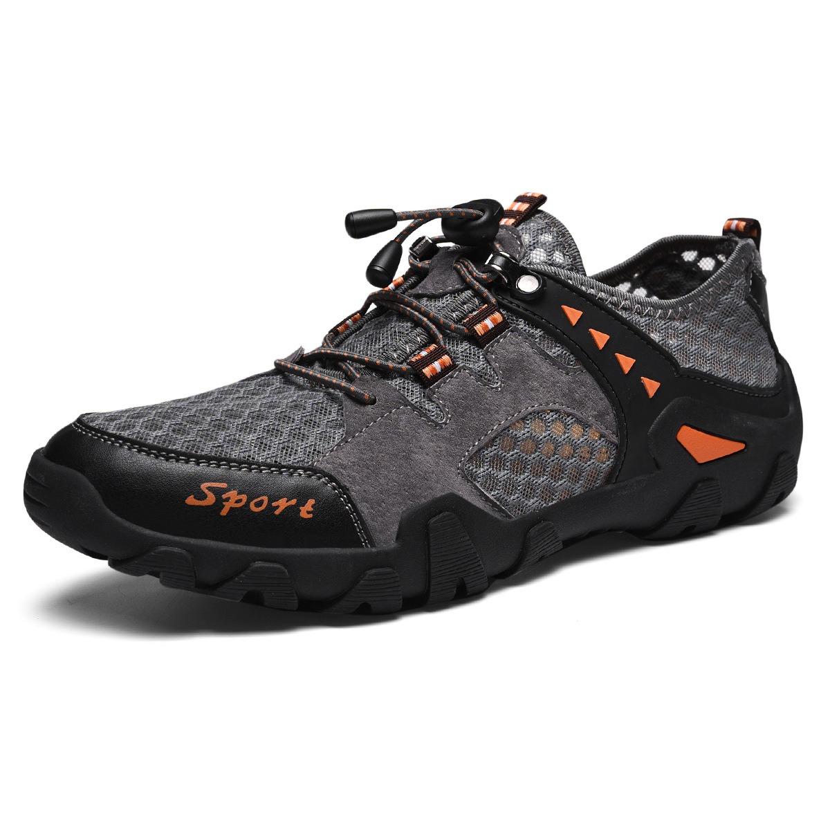 Men Mesh Breathable Slip Resistant Outdoor Hiking Sneakers