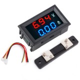 0.56″ Blue Red Dual LED Display Mini Digital Voltmeter Ammeter DC 100V 50A Panel Amp Volt Voltage Current Meter Tester