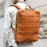 Men Large Capacity Genuine Leather Business Bag Backpack Shoulder Bag Office Work