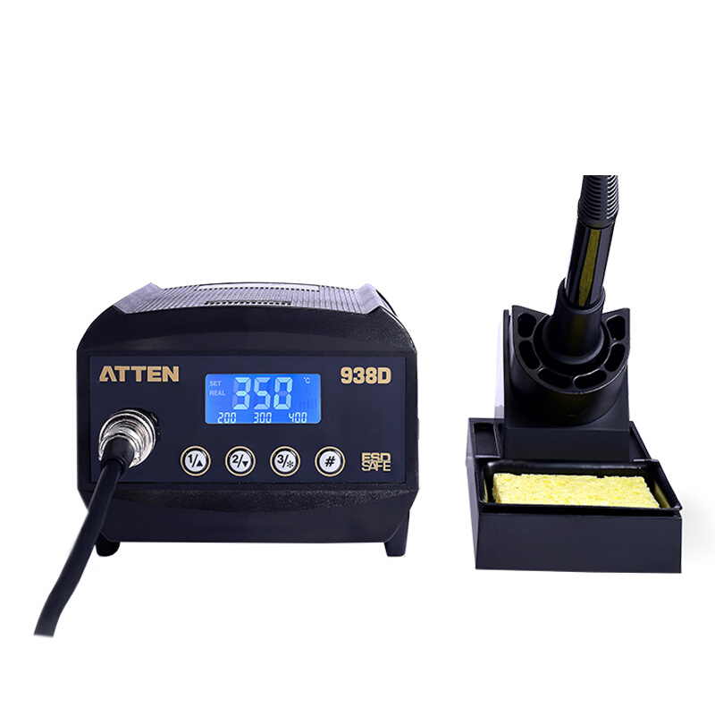 ATTEN AT938D 60W Lead-free 60W ESD Digital Soldering Iron Station SMD Rework Staion for BGA Soldering Mortherboard Repair