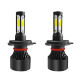 S2 4 Sides COB LED Car Headlights Bulbs H4 H7 H11 9005 9006 9007 50W 6000LM 3D 360 Degree Fog Lamp 6000K