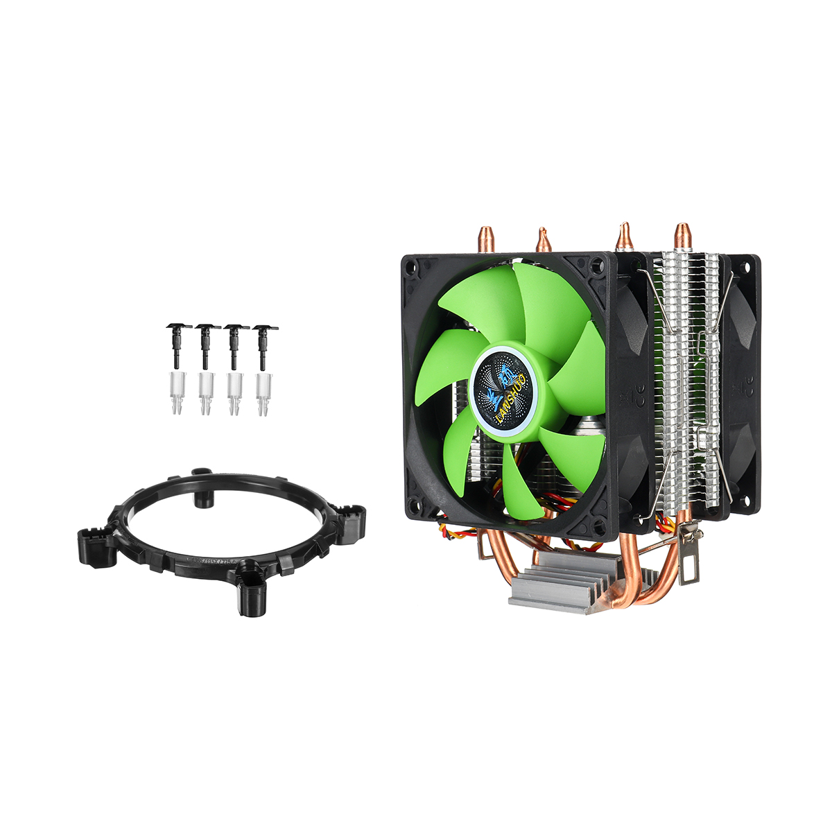 Dual Fan CPU Cooler Heatsink Quiet for Intel LGA775//1156//1155 AMD AM2//AM2+//AM3 J