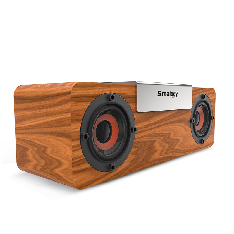 20W TWS Portable Wooden bluetooth 5.0 Speaker Wireless Bass Subwoofer Stereo NEW