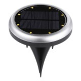 2X 8 LED Solar Power Buried Light Underground Lamp IP66 Waterproof Outdoor Path Way Garden Decking Lamp