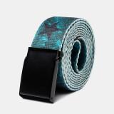 160cm Nylon Waist Leisure Belt Zinc Alloy Tactical Belt Quick Release Inserting Buckle