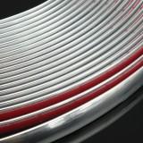 12M Chrome Car Body Door Edge Lip Protector Decor Moulding Guard Trim Strip