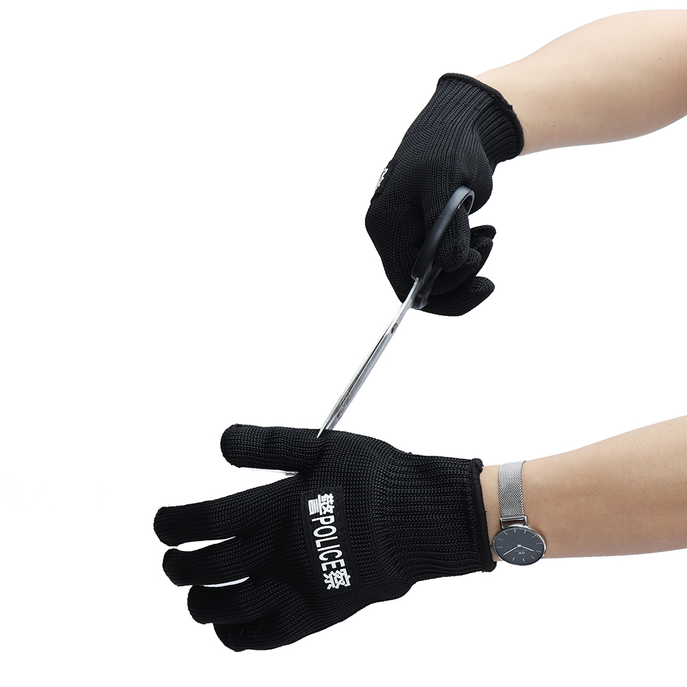 Cut Resistant Gloves Anti-Cut Gloves Work Gloves Protective Finger Kitchen Wear-Resistant Safety Gloves Steel Wire