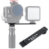 Ulanzi PT-7 Cold Shoe Stand Bracket Vlogging Microphone Flash Light Extension Plate with 1/4 Inch Tripod Screw