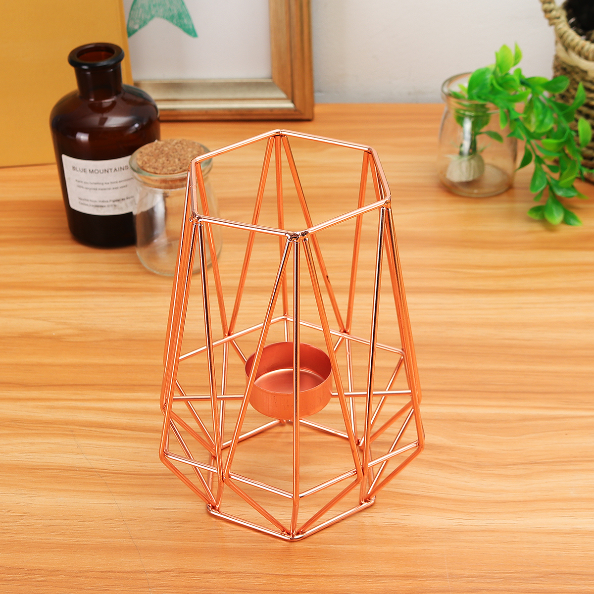 Geometric Candlestick Metal Iron Candle Holder Wedding Home Decorations Nordic Style Alexnld Com