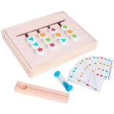 Wooden Teaching Training Early Educational Puzzle Baby Kids Toys Enlightenment Logic Thinking Orientation Training