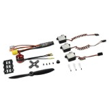 SonicModell Power Combo 1806 KV2400 Brushless Motor & 30A ESC & 8g Servo & 5045 Propeller Spare Parts For Skyhunter Racing Airplane