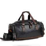 Men Gym Bag Leather Travel Weekender Overnight Duffel Bag Sports Luggage Tote Duffle For Men