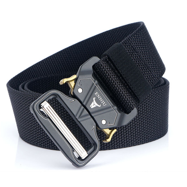 ENNIU W43S 125cm 4.3cm Military Tactical Belt Heavy Duty Punch Free Nylon Waist Belt Adjustable Durable Casual Belt