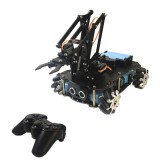 PI Master' Robot DIY Programmable Ultrasonic Avoidance With Omni Wheels Smart RC Robot Arm Tank Compatible Arduino