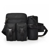 Men Outdoor Tactical Waist Fanny Pack Nylon Hip Bum Belt Chest Bag Water Bottle Holder Pouch Camping Hiking