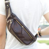 Men Large Capacity Waist Bag Chest Bag Crossbody Bag Fashion Outdoor