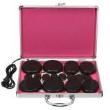 110V-220V Electric Heating Box Warmer Heater Device Salon SPA Beauty 16Pcs Massager Hot Stones Kit