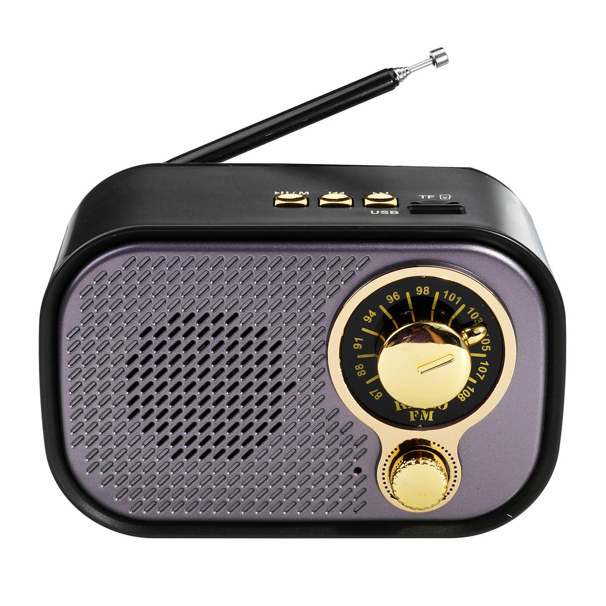 M-209BT DC 5V 5W FM Radio bluetooth AUX Speaker USB TF Card MP3 Music Player