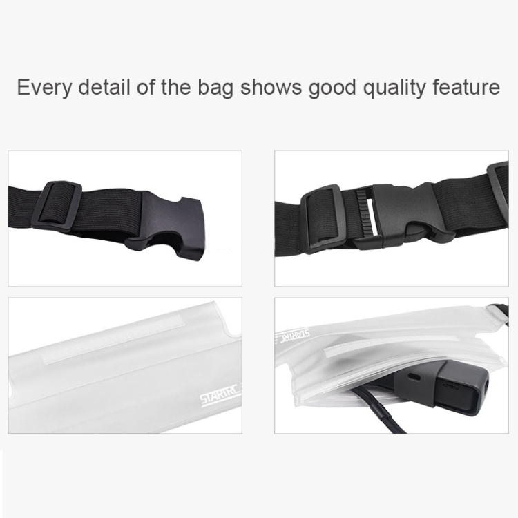 Osmo Pocket Accessories STARTRC Portable Frosted Transparent Waterproof Waist Pack Storage Bag for DJI Gimbal