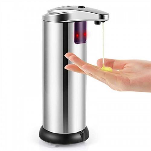 250ml Automatic Chrome Bathroom Kitchen Liquid Soap Dispenser No-Touch Hand Free