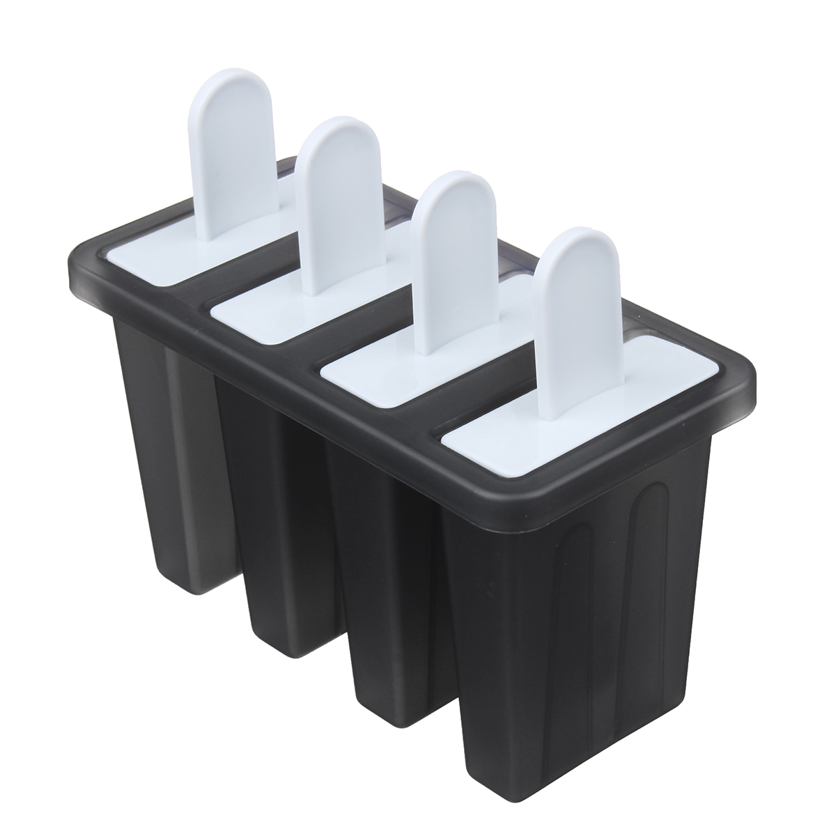 4 Cavity Popsicle Frozen Mould PP Material Cake Baking Mould DIY Ice Cream Mold Decorations