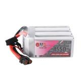 Gaoneng GNB 22.2V 1550mAh 130C 6S Lipo Battery XT60 Plug for FPV RC Racing Drone