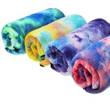 Tie- dyed Sports Towel Quick-dry Soft Lightweight Outdoor Sports Fitness Running Towel
