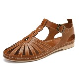Women Hollow Out Breathable Closed Toe Sandals