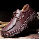 Men Genuine Leather Slip Resistant Casual Business Oxfords