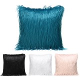 Long Wool Throw Pillow Cover Cushion Seat Sofa Case Home Bedroom Decorations