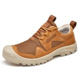Men Breathable Mesh Anti-Collision Toe Outdoor Hiking Sports Sneakers