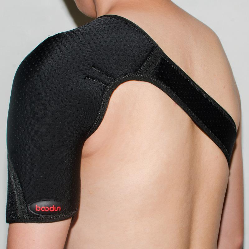 BOODUN Adjustable Shoulder Support Strap Posture Bandage Corrector Pain Relief Brace Back Support Sports Protector-Black