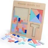 Baby Wooden Tetris Puzzles Toys Kids Children Toddlers Educational Preschool Game Blocks Toys