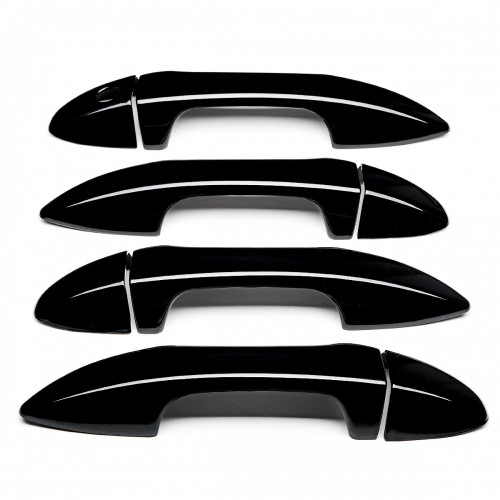8Pcs/Set Car Door Handle Cover Gloss Black ABS For Toyota Corolla 2014-2018 LHD Cars
