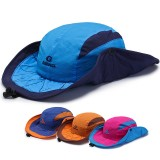 Mens Foldable Breathable With String Bucket Hat Outdoor Fishing Hat Climbing Sunshade Cap