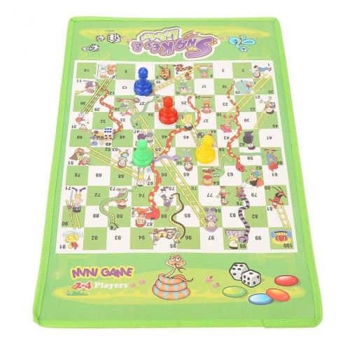 Snake Ladder Interesting Board Game Toy Set Portable Flying Chess Board Educational Kids Toys