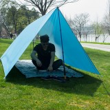 Outdoor Tent Sunshade Portable Hammock Rain Fly Waterproof Tent Tarp Camping Backpacking Tarp