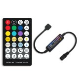 28Keys RF Mini Remote Control RGB+CCT Constant Current LED Strip Controller for Indoor Lights DC5-24V