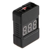 BX100 1-8S Lipo Battery Voltage Tester/ Low Voltage Buzzer Alarm/ Battery Voltage Checker with Dual Speakers