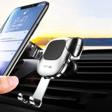 Joyroom Gravity Linkage Automatic Lock Air Vent 360 Rotation Car Phone Holder For 4.0-6.5 Inch Smart Phone