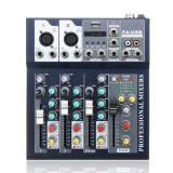 J.I.Y F4 4 Channel USB Bluetooth Audio Mixer with Reverb Effect for Home Karaoke Live Stage Performance
