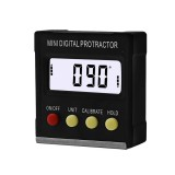 360 Degree Mini Digital Protractor Inclinometer Electronic Level Magnetic Box