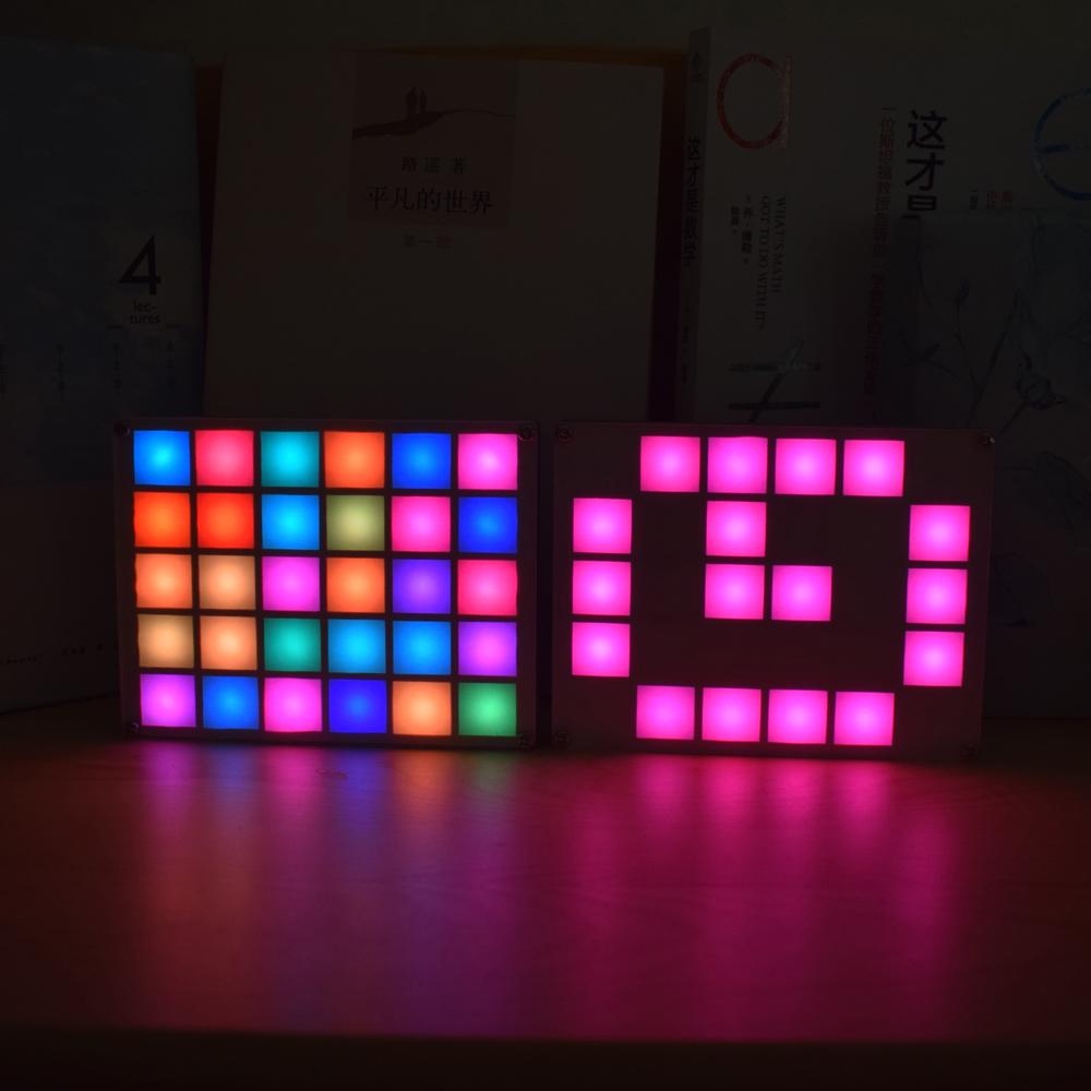 Geekcreit DIY Multi-function LED Cool Music Spectrum RGB Color Palette Clock Kit