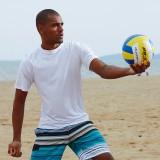 Mens Summer Surfing Breathable Crew Neck Short Sleeve Swimwear Tops