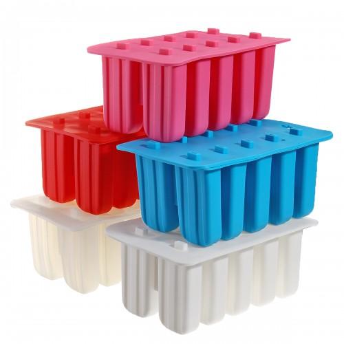 Ice Cream Mold 10 Cells Frozen Ice Cream Mould Maker Popsicle Yogurt Ice DIY Decorations