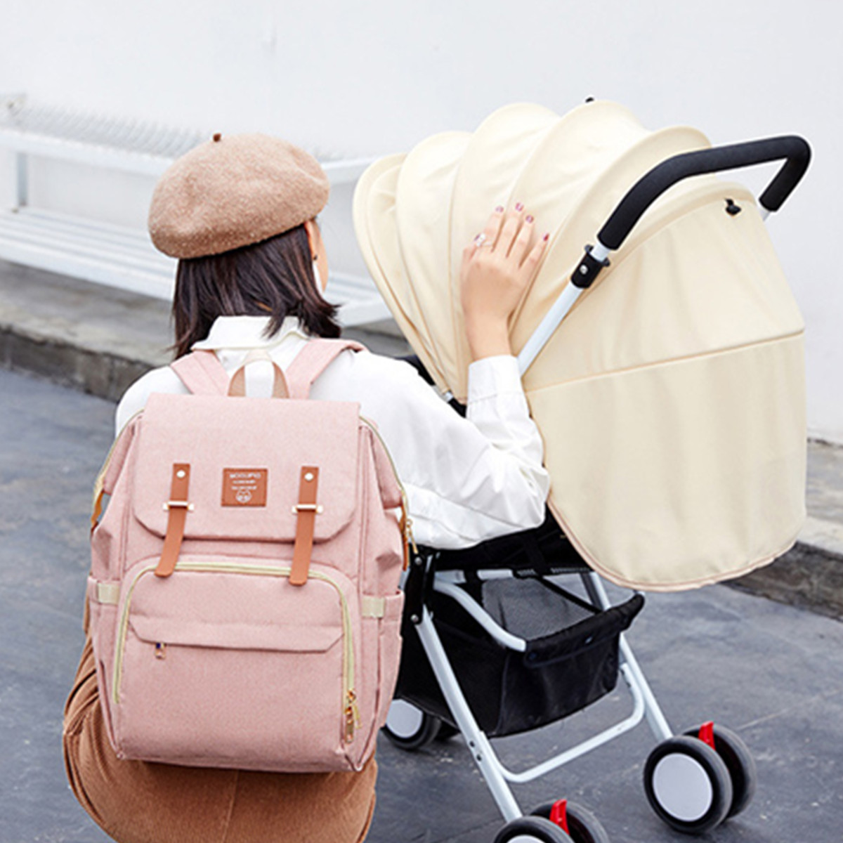21L USB Mummy Backpack Waterproof Baby Nappy Diaper Bag Shoulder Handbag Outdoor Travel