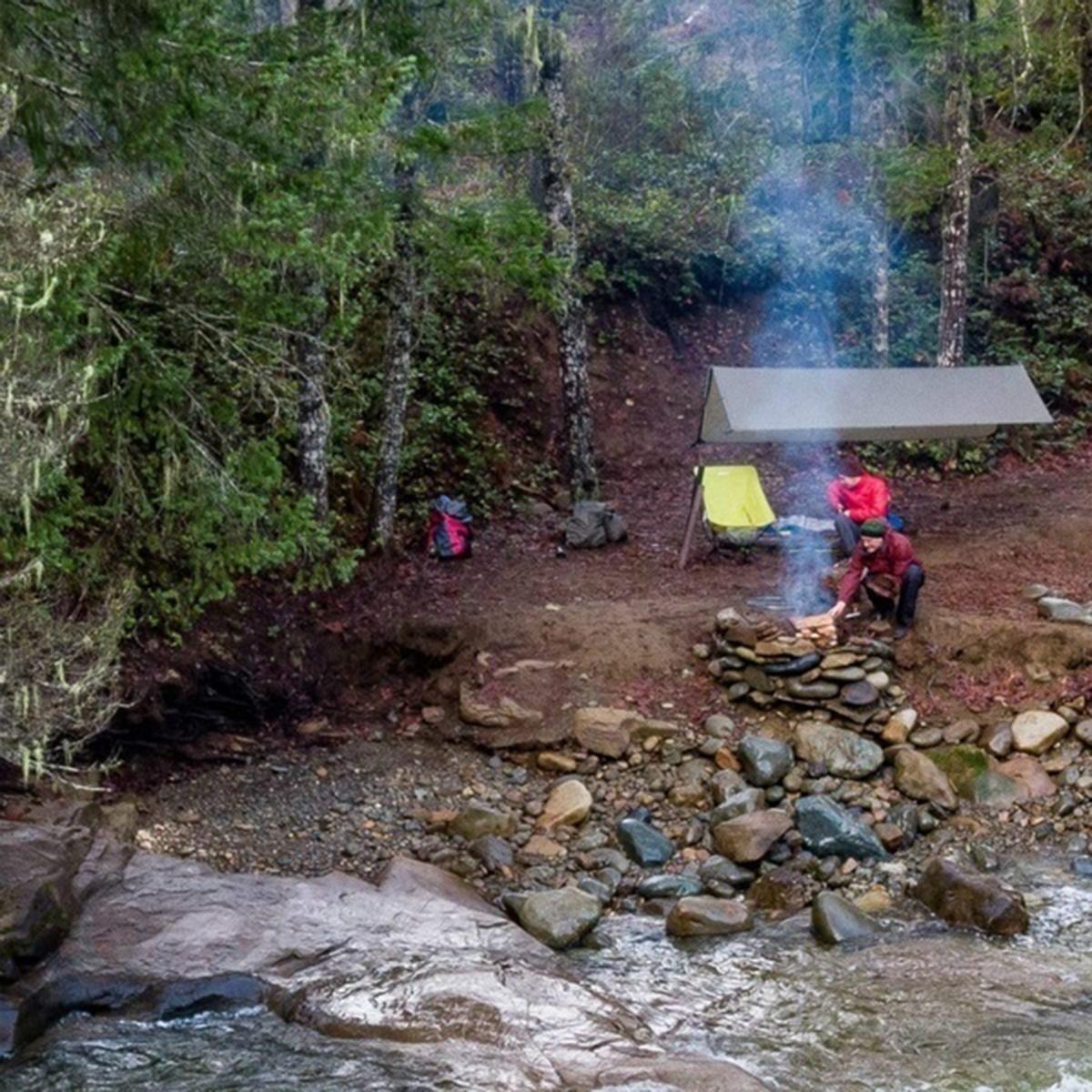 Outdoor Tent Sunshade Portable Hammock Rain Fly Waterproof Tent Tarp Camping Backpacking Tarp