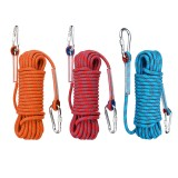 20mx10mm Double Buckle Rock Climbing Rope Outdoor Sports Hiking Mountaineering Belt Downhill Safety Rope